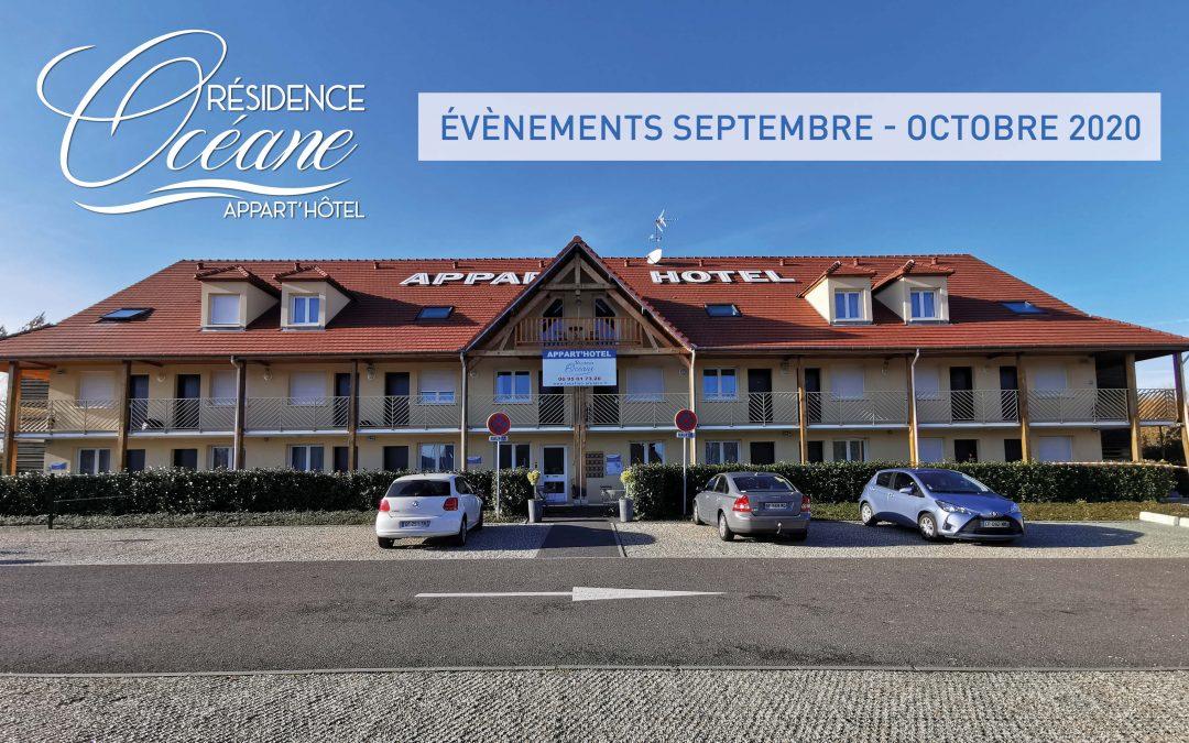 Les évènements de septembre et octobre autour de la Résidence Océane